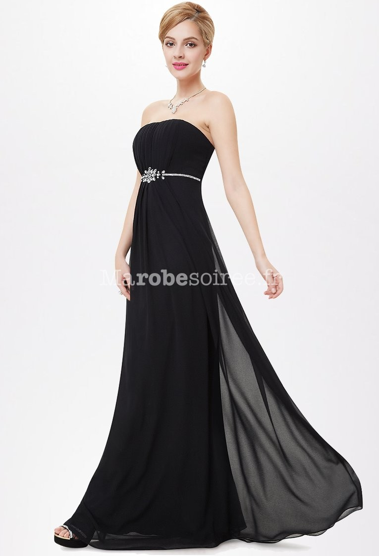 robe de c r monie simple avec ceinture en strass. Black Bedroom Furniture Sets. Home Design Ideas