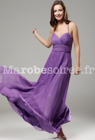 vente officielle trouver le prix le plus bas une performance supérieure Robe de soirée longue Sandro antique bretelles en mousseline ...