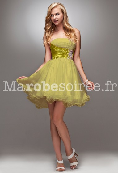 Déstockage - robe de soirée meringue réf 4005