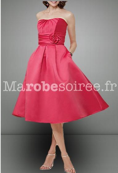 rouge corail robe de soirée rétro vintage sur mesure