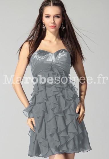 Déstockage - Marylou - robe de soirée à volants réf  5808