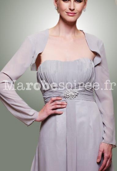 mathilde - boléro gilet pour robe de soirée cérémonie robe de mariage sur mesure 5909