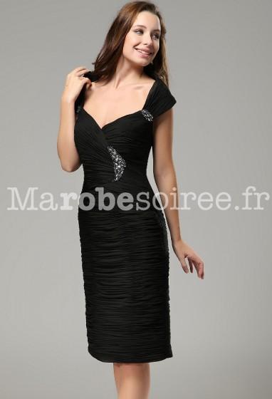 viki - robe de soirée élégante près du corps noir - sur demande réf 9635