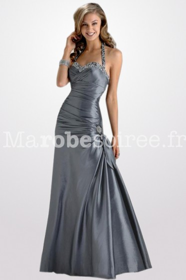 argente robe de soiree halter-neck réf 4233