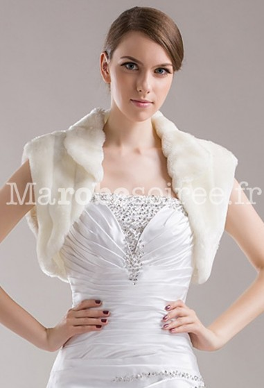 Boléro gilet de mariée ivoire Réf 3307