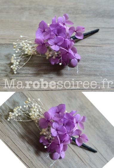 Boutonnière mariage fleurs naturelles séchées Réf AD5
