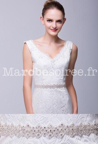Ceinture en strass pour robe de mariée