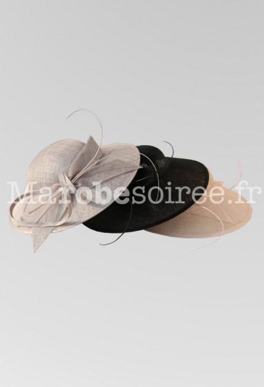 chapeau de cérémonie en sisal réf 218 Sur demande