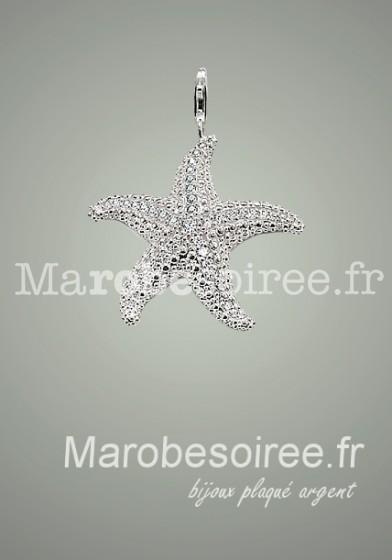 Étoile de mer charms pendentif réf 06