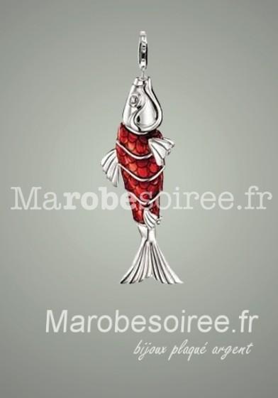 poisson rouge charms pendentif réf 21