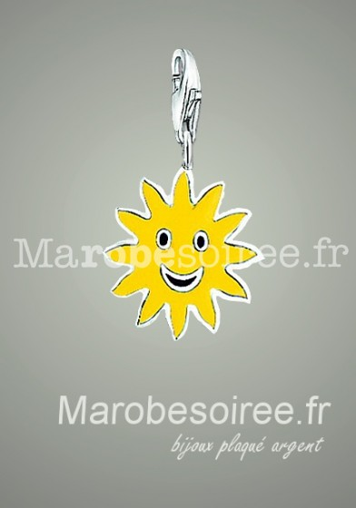 soleil jaune charms pendentif réf 08