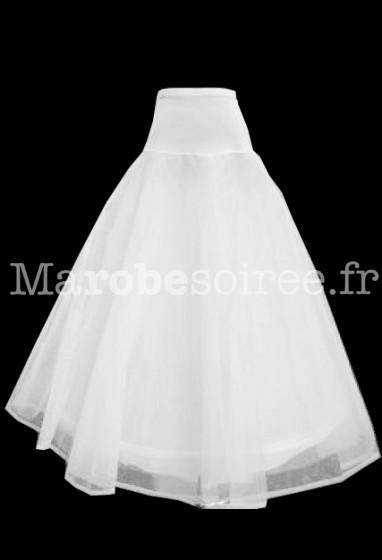 jupon à porter sous pour les robes de mariée forme évasée