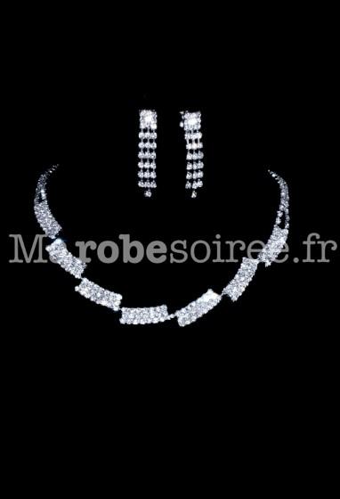 Magnifique parure tout en strass brillance réf sz1073