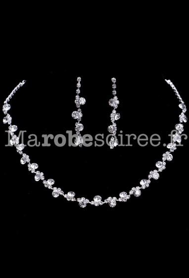 Parure bijoux fin pour cérémonie réf PA030