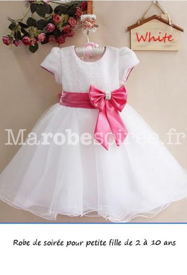 robe de cortège à manches courtes le haut scintillantes réf.EF6061QC
