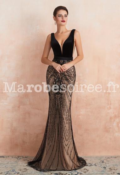 robe de soirée luxueuse dos nu - Réf 358