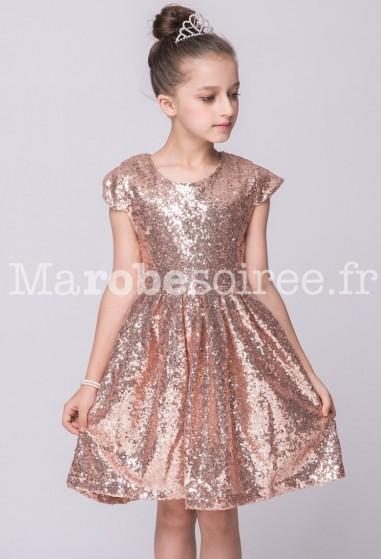 Robe de soirée fille scintillant lumineux réf.EF850