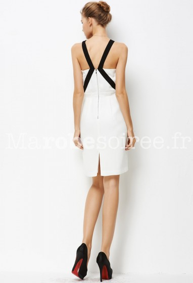 Robe style working girl blanche réf YY7615