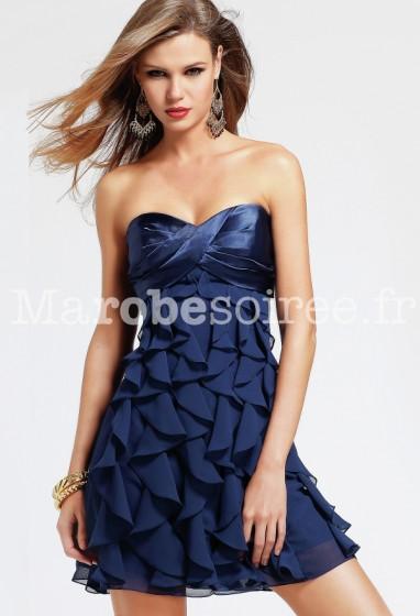 robe de soirée à volants