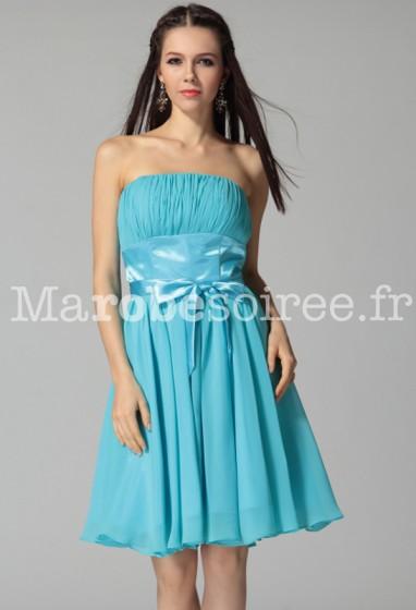 Marina - robe de cocktail avec bretelle spaghetti sur mesure