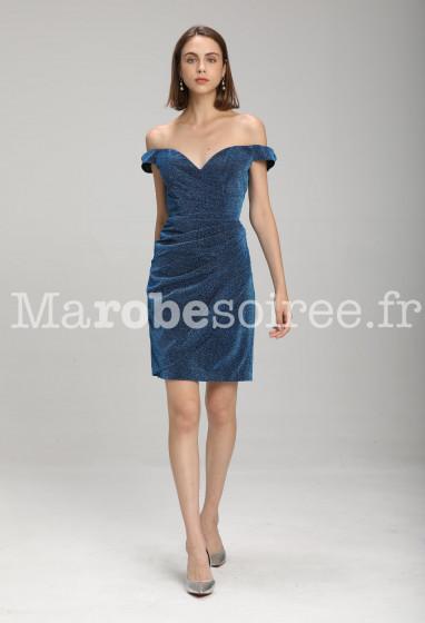 Robe de soirée bleu pastel