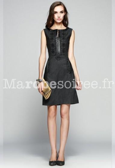 Robe de cocktail tailleur noir réf ML252