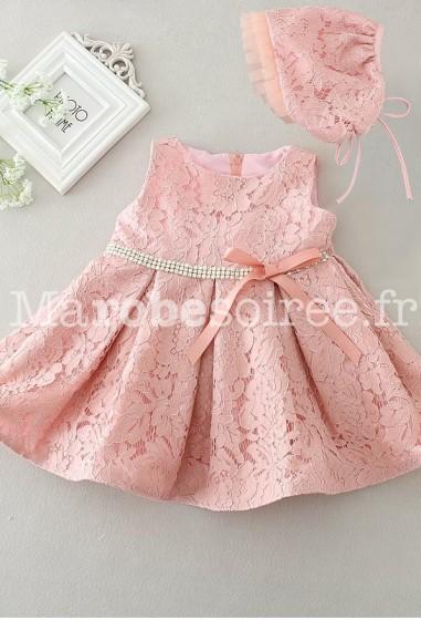 Petite robe bébé rose poudré