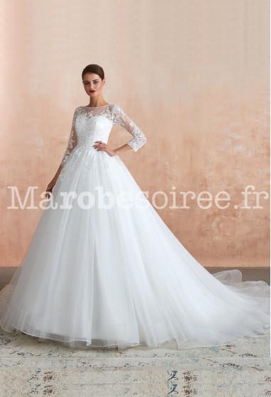 Robe de mariée princesse manches longues SQ365 Sur demande