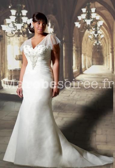 robe de mariée manche courte