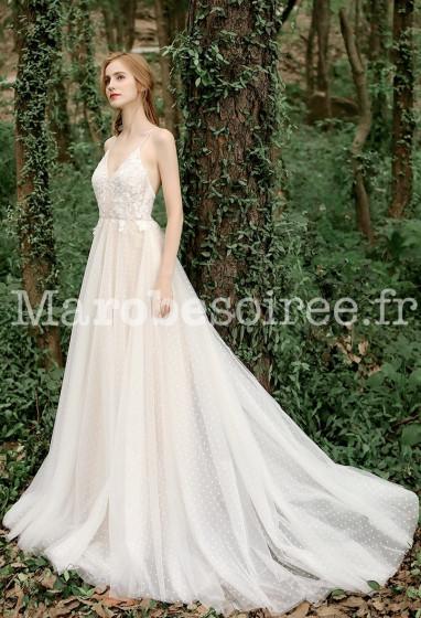 Robe de mariée à coupe évasée Réf RM2139 - sur demande