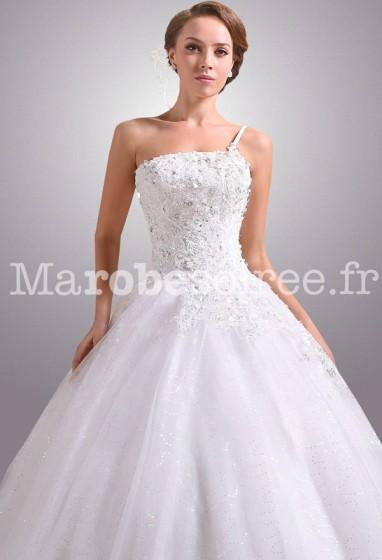 Sublime robe de mariée forme princesse réf 0024 - sur demande en ...