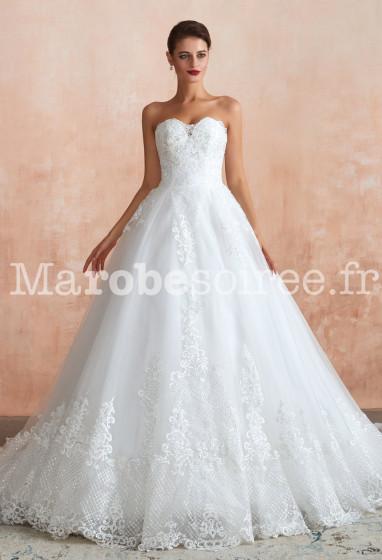 Robe de mariée princesse bustier cœur SQ367 Sur demande