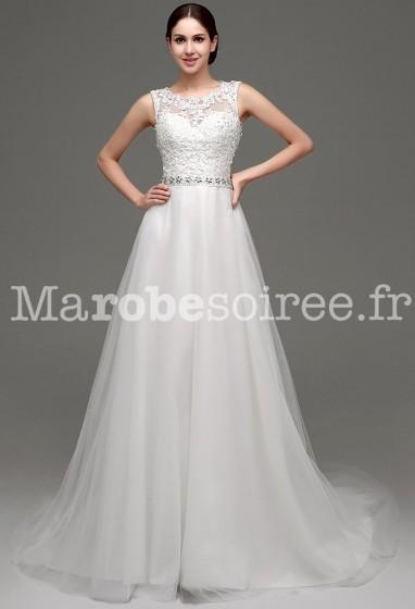 Robe de mariée romantique avec dos transparent