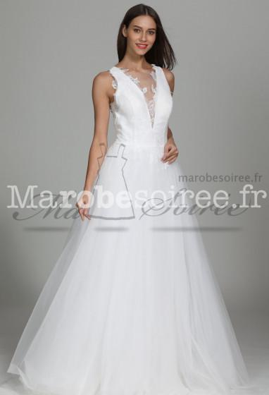 Jolie robe de mariée princesse dos nu Réf: 1925 - Sur demande