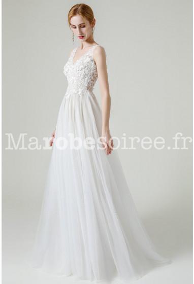 Robe de mariée champêtre transparence Réf M2132 - Sur demande