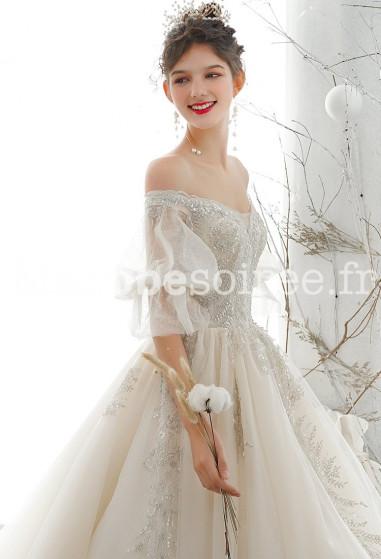 Robe de mariée épaules dénudée Réf M2120 - Sur Demande