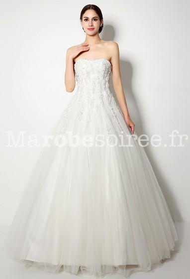 Robe de mariée princesse avec motif floral réf SQ262 - sur demande
