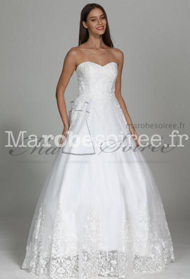 Robe de mariée princesse bustier glamour