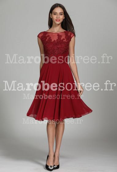 Superbe robe courte fluide ornée strass - Réf 1942