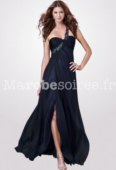 robe de cérémonie bleu nuit glamour réf 5936