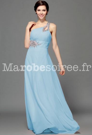 nice - robe de soirée princesse bleu pastel réf 4212