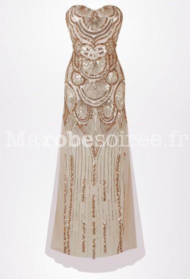 Robe de soirée sexy bustier fourreauréf: 0004