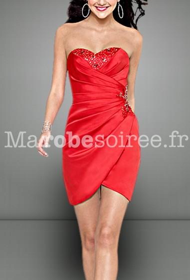 robe de soirée sexy bustier coeur sur mesure