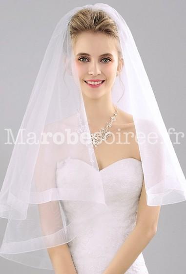 Voile de mariage simple à ourlet réf V1332