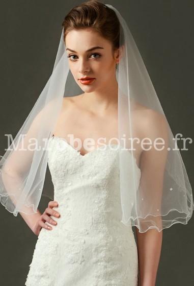 voile de robe de mariée broderie fin