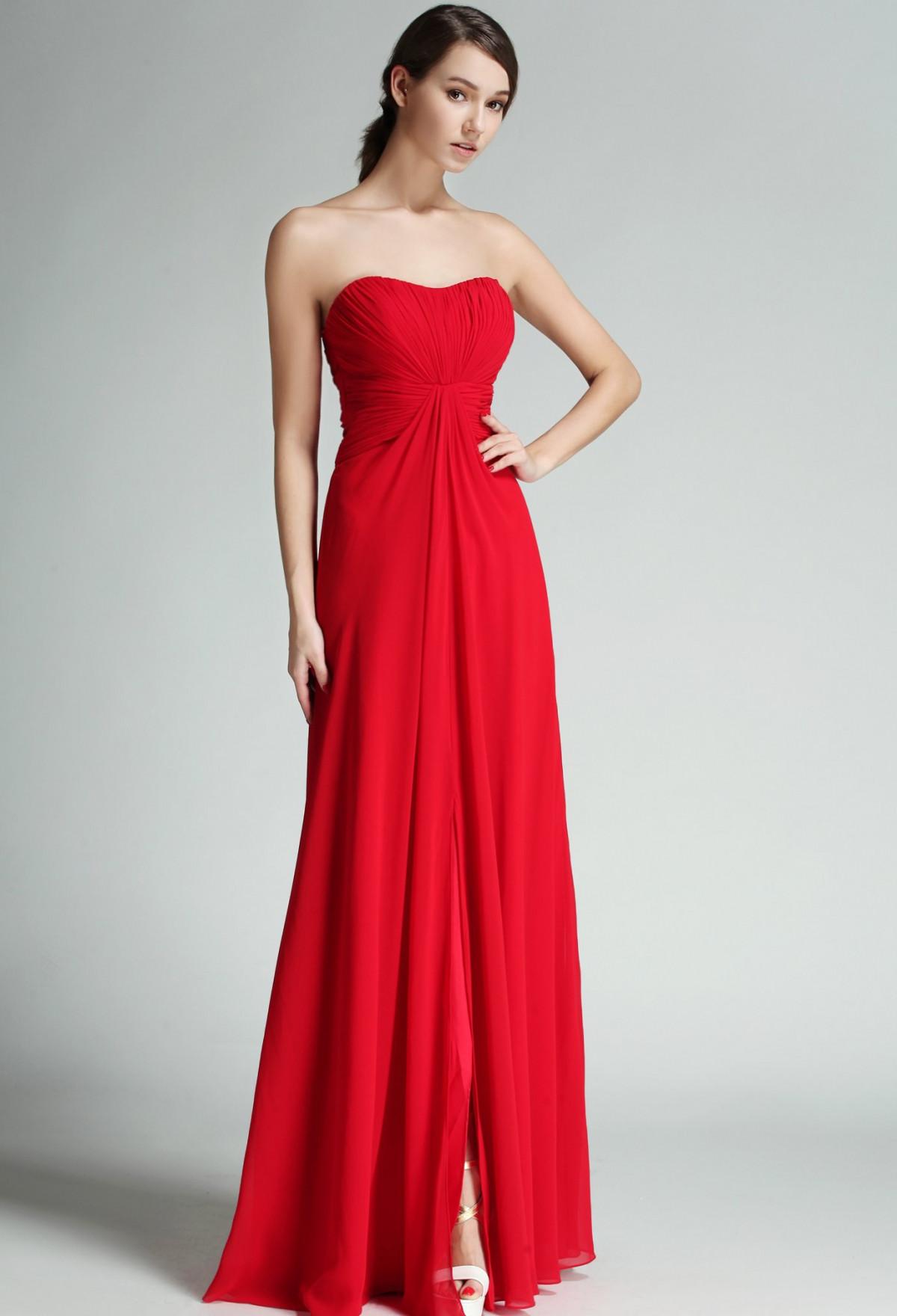 cérémonie chic Robe de soirée classe mariage 34-48 Rouge cocktail habillée