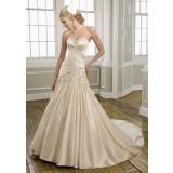 Coline - robe de mariée robe de mariage en satin bustier plissé et borderies 165 - SUR DEMANDE