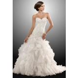 Robe de mariée robe de mariage bustier broderie réf 914 - sur demande