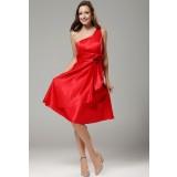 wily - robe de soirée épaule asymétrique rouge 9633