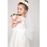 Voile avec une couronne de fleurs pour jeune fille Réf F21